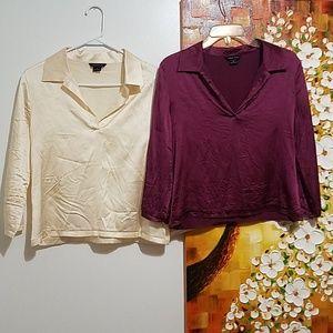 New Moda International Silk Top Lot